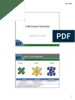 MIT3 40JF09 Lec02-Basic Crystallography
