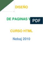 DISEÑO DE PAGINAS WEB CURSO HTML