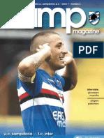 Match Program - Sampdoria vs Inter 26-09-09