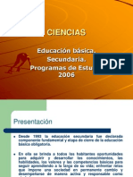 Ciencias. Programas de Estudio 2006