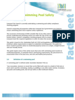 Residential Swimming Pool Safety Fact Sheet