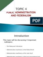 Topic 4-Public Admin.&Federalism
