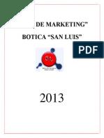 Plan de Marketing Botica San Luis