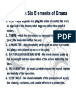 six elements of drama poster