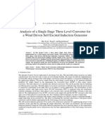 Analysis of a Single Stage Three Level Converter for