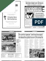 Versión impresa del periódico El mexiquense 17 enero 2014