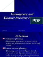 Contingency and Disaster Recovery Planning