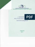 SEMINÁRIO POLÍTICO-DIPLOMÁTICO (INTERVENÇ ÕES)