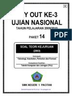 Soal UN (TryOut) Ujian Nasional SMK Teori Kejuruan TKJ - B