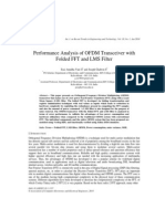 Performance Analysis of OFDM Transceiver with Folded FFT and LMS Filter