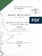SAUVAIRE, Henri (1882) Le Moultaqua El Abheur