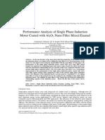 Performance Analysis of Single Phase Induction Motor Coated with Al2O3 Nano Filler Mixed Enamel