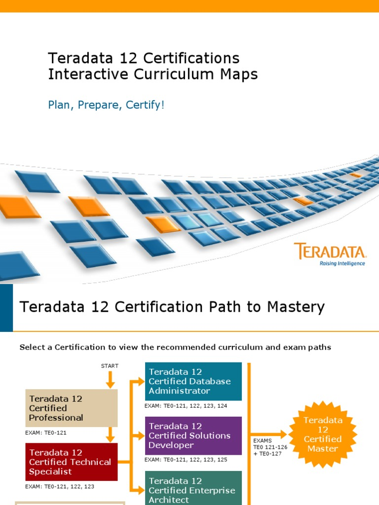 Articleteradata Career Path Databases Professional Certification