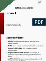 Numerical Analysis - Errors