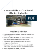 A Kanban Milk-Run Coordinated Milk-Run Application