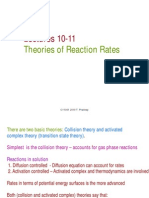 Lectures 10-11 Theories of Reaction Rates