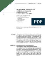 Production d'électricité par énergie éolienne_situation dans le monde et programme français éole 2005_meteo_1999_25_38