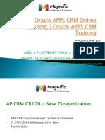 OracleAPPSCRM Online TrainingOracleAPPSCRM Training