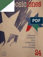 Revista_Proposiciones_24_Problemas Históricos de la Modernidad en Chile