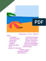 Homeroom Ptca Officers 2005
