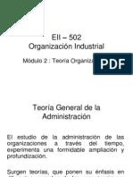 EII 502 Módulo 2 Teoría de la Administración