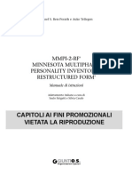 MMPI 2 RF Manuale Capitoli 1e2