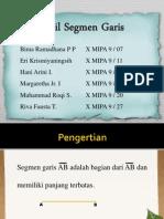 Dalil Segmen Garis