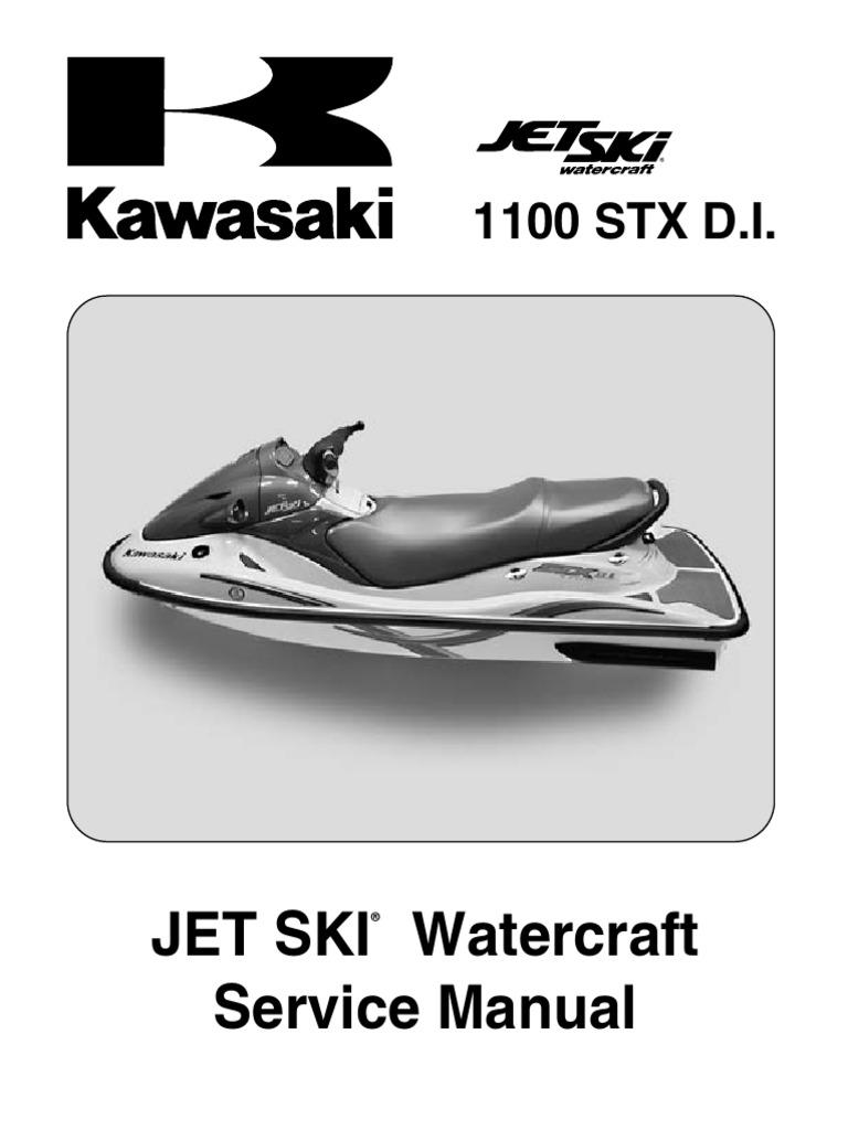 Kawasaki 1100 STX DI Service Manual | Fuel Injection | Internal Combustion  Engine
