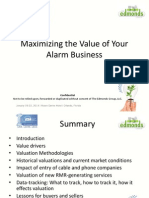 Maximizing the Value of Your Alarm Business