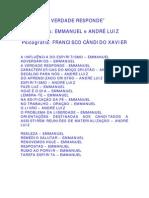 A Verdade Responde - Emmanuel - André Luiz