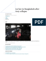 Stronger Labor Law in Bangladesh After Garment Factory Collapse