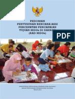 Pedoman Penyusunan Rencana Aksi Percepatan Pencapaian Tujuan Mdgs Di Daerah (Rad Mdgs) - Kementerian Perencanaan Pembangunan Nasional - Badan Perencanaan Pembangunan Nasional Tahun 2010