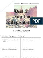 Note Packet - Road to Independence