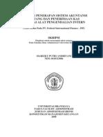 Analisis Penerapan Sistem Akuntansi%0D%0APiutang Dan Penerimaan Kas Sebagai Alat Pengendalian Intern Studi Kasus Pada PT. Federal Internasional Finance FIF