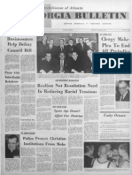 Front page of the Georgia Bulletin, Jan. 17, 1963