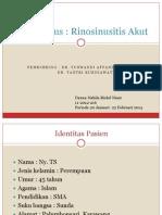 Studi Kasus Rinosinusitis Akut