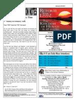 St. Augustine Catholic Church Sunday Bulletin, January 26, 2013
