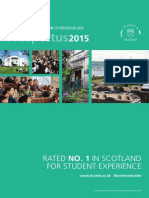University of Dundee, Undergraduate Prospectus 2015 (Single page spread)