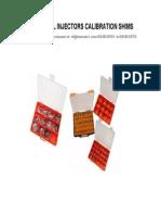 Calibration Shims Catalogue 2011
