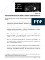 Principles for Protecting the Rights of Refugees and Asylum Seekers