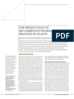 The Production of Recombinant Pharmaceutical Proteins in Plants