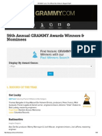 Ganadores y Nominados a Los Grammy 2014