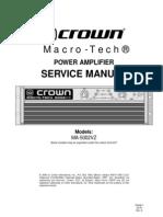 MA5002VZ SM 130446-1amplificator Manual