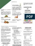 Alimentacion en Diabetes, Www.cuidarenfermeria