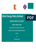 Presentation on Wind Energy Policy Outlook by Shri Ramesh Kymal, President, IWTMA