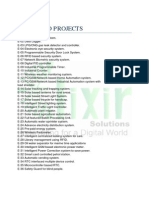 LIST OF PROJECTS FOR ELECTRONICS STUDENT