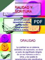 ORALIDAD Y ESCRITURA