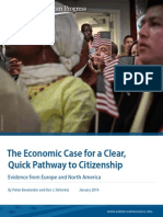 The Economic Case for a Clear, Quick Pathway to Citizenship