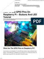 How to Use GPIO Pins on Raspberry Pi - Buttons and LED Tutorial - OscarLiang