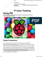 Raspberry Pi Color Tracking Using PID - OscarLiang